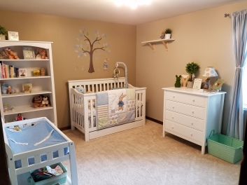 Jensen's Peter Rabbit themed nursery